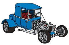 Blue hot rod - stock illustration