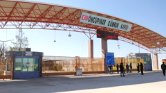 Turkey / Syria border at Kilis - stock footage
