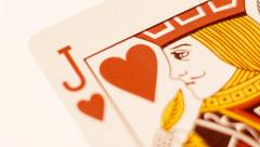 Playing Card - Jack Of Hearts Stock Footage