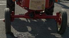 Tilt up view of a Porsche Junior tractor seen in Saint-Tropez Stock Footage