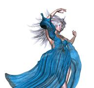 Stock Illustration of Fantasy woman with white hair
