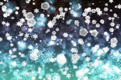 Snow Storm Background Stock Illustration
