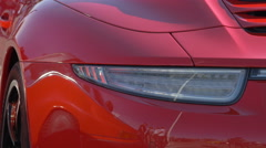 Close up of a Porsche 911 Targa 4S seen in Saint-Tropez Stock Footage