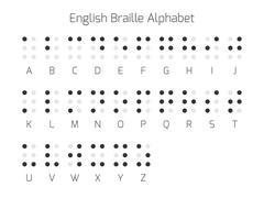 English Braille alphabet letters Stock Illustration