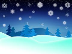 Stock Illustration of Winter night illustration