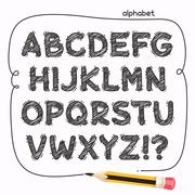Cartoon Doodle Alphabet Stock Illustration