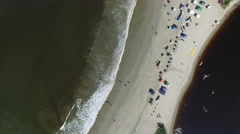 Top View of Barra do Una, Brazil Stock Footage
