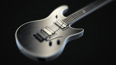 Miniature Electric Guitar - stock footage