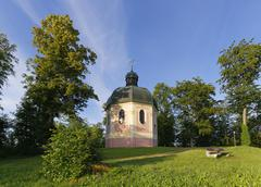 Josefskapelle chapel Sigmaringen Upper Swabia Swabia BadenWuerttemberg - stock photo