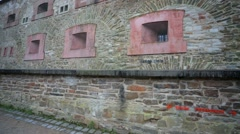 Walk along the fortress Ehrenbreitstein, Koblenz, Germany. Stock Footage