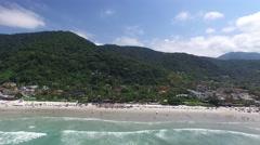 Aerial View of Rio de Janeiro Beach, Brazil Stock Footage