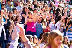 Crowd of children during National Sovereignty and Children Day - stock photo