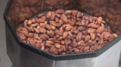 Chocolate production from cacao beans Stock Footage