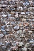 Stone background. Galata, antique Genoese tower Stock Photos