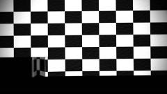Chequered flag folding transition Stock Footage