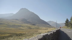Snowdonia Mountains Tryfan and Ogwen Valley Wales Stock Footage