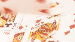 Playing Cards On The White Background Stock Footage