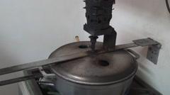 Artisanal coffee roasting pot Stock Footage