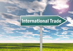 Signpost International Trade - stock illustration