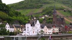 Rhine Valley is UNESCO World Heritage Site. Stock Footage