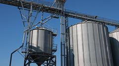 Grain Storage Bins - stock photo