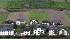 Stock Video Footage of View of local villages. Rhine Valley is UNESCO World Heritage Site.