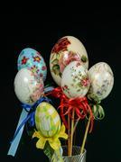 Easter eggs decoration handmade - stock photo