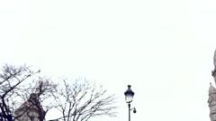 Sacre Coeur in Montmatre, Paris Stock Footage