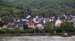 Rhine Valley is UNESCO World Heritage Site. - stock footage