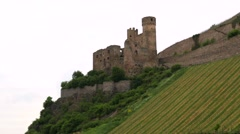 Rhine Valley is UNESCO World Heritage Site. Stock Footage