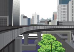 Modern Bangkok City Illustration Piirros