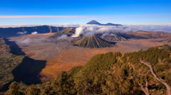 4K Timelapse Of Bromo volcano, East Java, Indonesia - stock footage