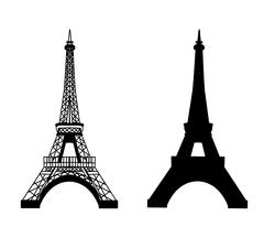 Eiffel tower isolated vector illustration Stock Illustration