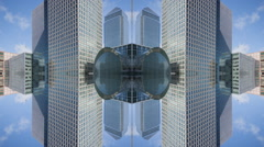 Timelapse london city skyline skyscrapers architecture abstract kaleidoscope Stock Footage
