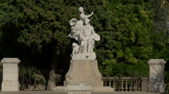 Sculpture of Jean Honore Fragonard in Grasse Stock Footage
