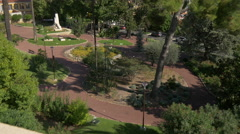 Driving on Boulevard Fragonard, next to the Jardin des Plantes, in Grasse Stock Footage