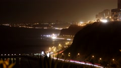 4K Timelapse of traffic in Lima, Peru Stock Footage
