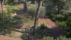 Walking in Jardin des Plantes and driving on Boulevard Fragonard, in Grasse Stock Footage