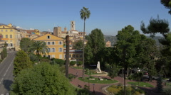 Jardin des Plantes seen from Boulevard Fragonard, in Grasse Stock Footage