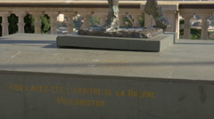 Tilt up view of the Amiral de Grasse bronze statue in Grasse Stock Footage