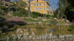 Beautiful park next to the Parfumerie Fragonard, in Grasse Stock Footage