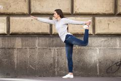 Lord of the Dance pose - stock photo