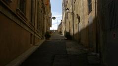 Rue Mirabeau with the Musée d'Art et d'Histoire de Provence, in Grasse Stock Footage