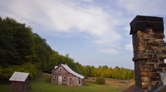 Time-lapse over barn  Stock Footage