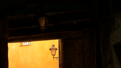 Passageway next to a narrow street in Grasse - stock footage