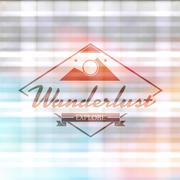 Composite image of wanderlust word Stock Illustration