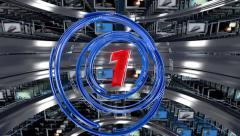 1-10 countdown in modern clean style - stock footage