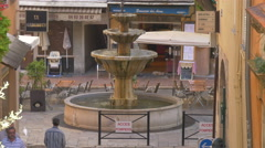 Fountain located in Place aux Aires, in Grasse Stock Footage
