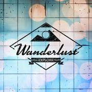 Composite image of wanderlust logo - stock illustration