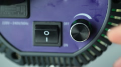 Regulated dimmer spotlight studio Stock Footage